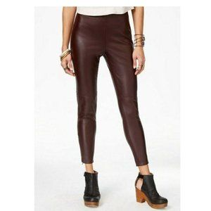 Free People Faux Leather Zip Ankle Legging Pant XS